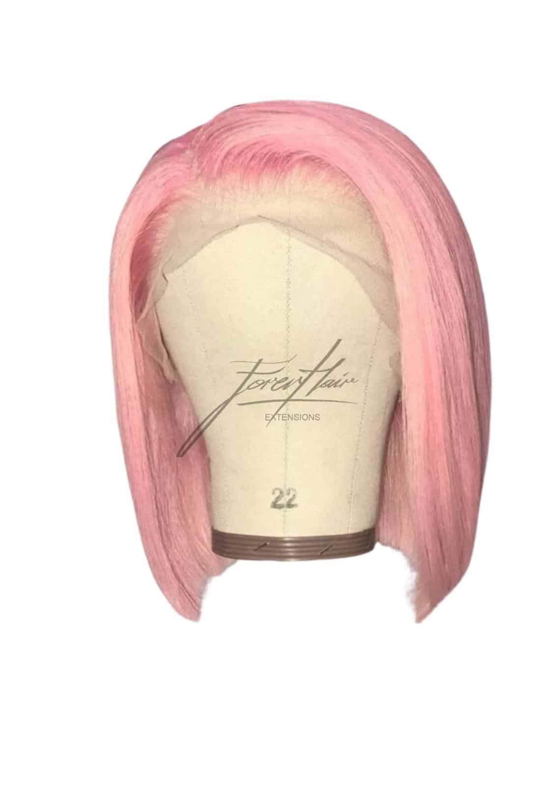 parrucca caschetto rosa
